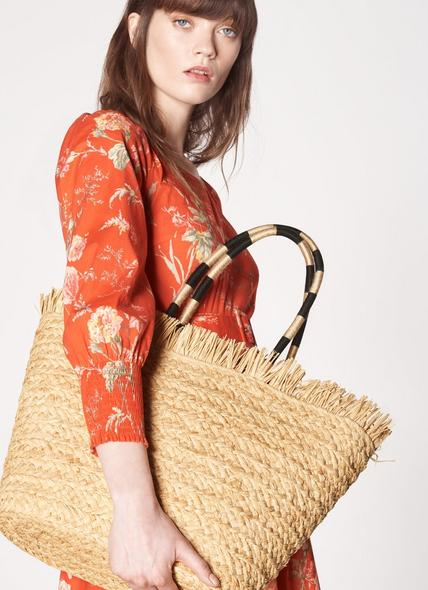 Lynne Natural Straw Tote