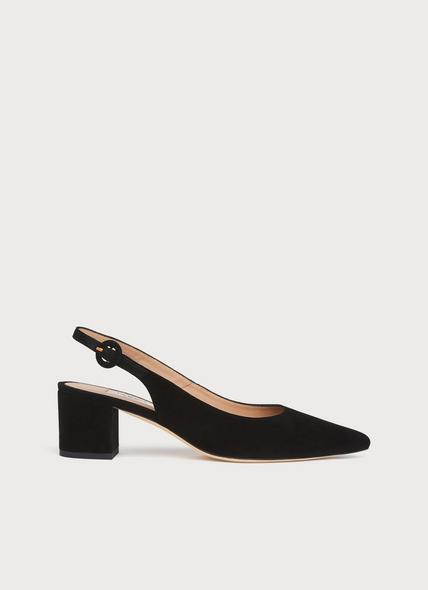 Ada Black Suede Courts