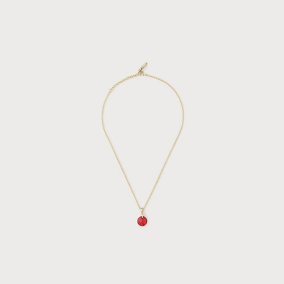 Brooklyn Red Swarovski Crystal Gold-Plated Pendant Necklace