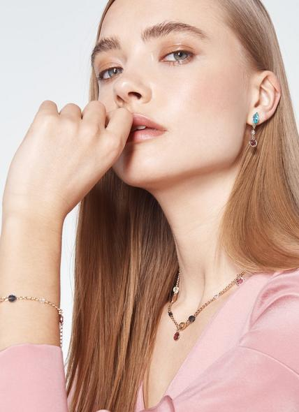 Rio Amethyst & Aquamarine Swarovski Crystal Drop Earrings