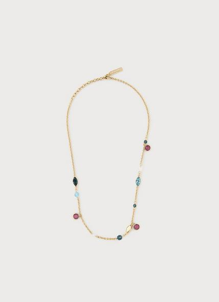 Rio Amethyst & Aquamarine Swarovski Crystal Necklace