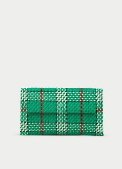 Dora Green Tweed Clutch