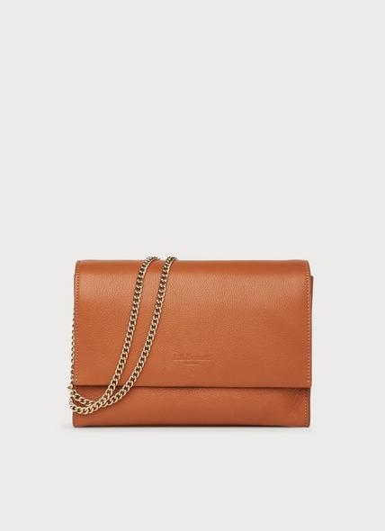 Marcella Tan Leather Shoulder Bag