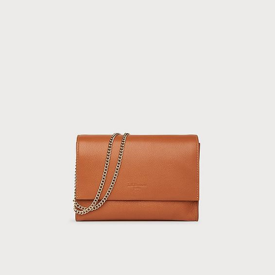 Marcella Tan Leather Shoulder Bag