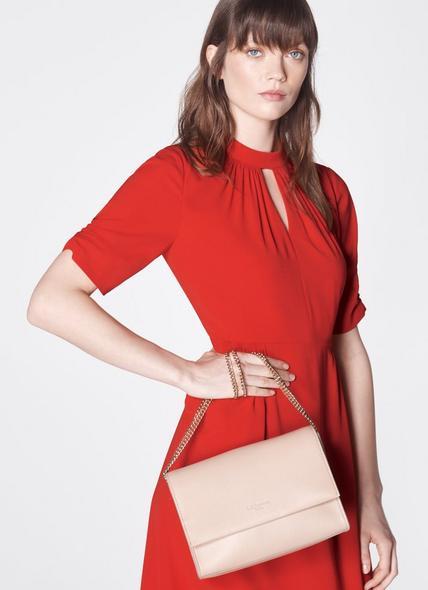 Marcella Taupe Leather Shoulder Bag