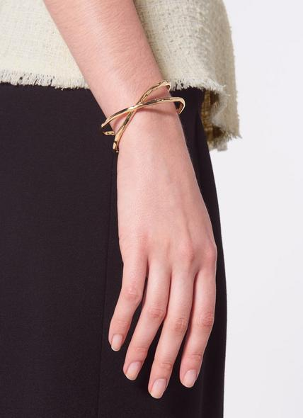 Cardiff Gold-Plated Twisted Bangle