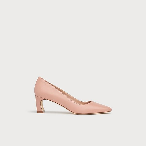 Freya Pink Leather Courts