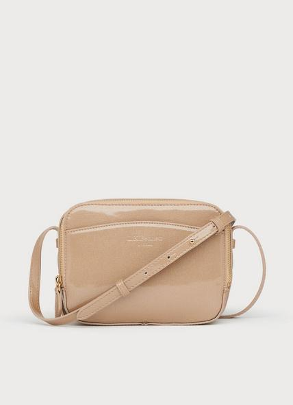 Mariel Beige Leather Shoulder Bag