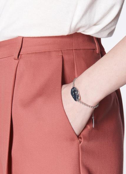 Toronto Silver-Tone Pebble Disc Bracelet