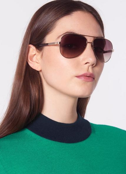 Isla Gold Frame Aviator Sunglasses