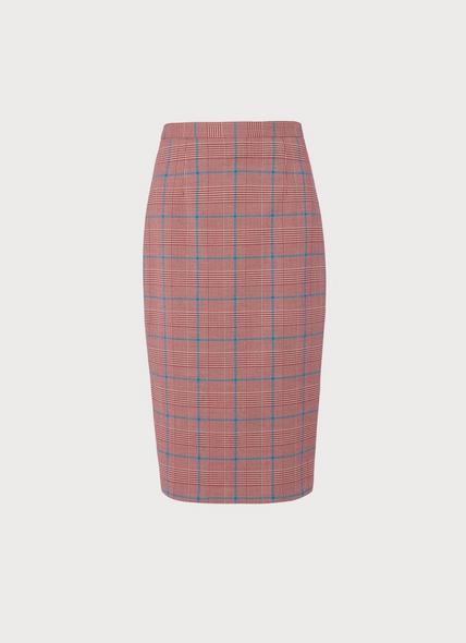 Eunice Prince of Wales Check Pencil Skirt