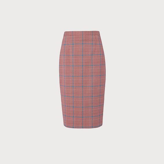 Eunice Prince of Wales Check Pencil Skirt