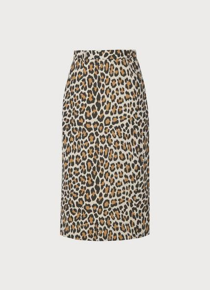 Giovanna Leopard Print Pencil Skirt