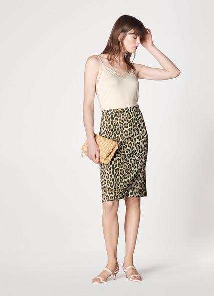 Giovanna Leopard Print Pencil Skirt