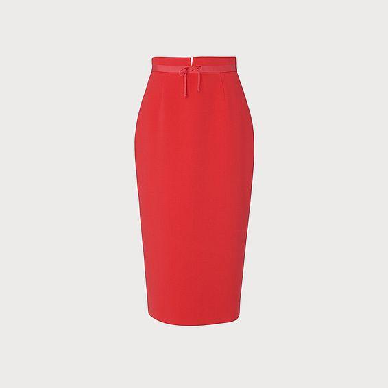 Rosamund Orange Pencil Skirt