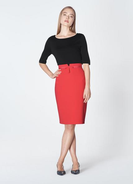 Rosamund Orange Pencil Skirt