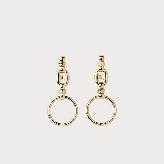 Austin Gold-Plated Drop Hoop Earrings