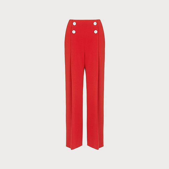 Parker Red Wide-Leg Trousers