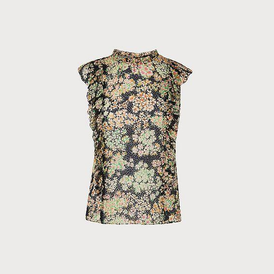 Cecilia Multi Silk Woven Top
