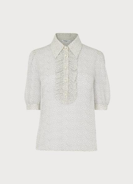 Ensor Cream Polka Dot Shirt