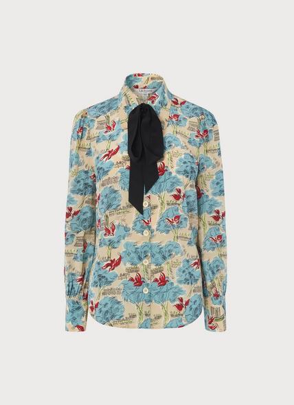 Sonya Tuileries Print Silk Shirt