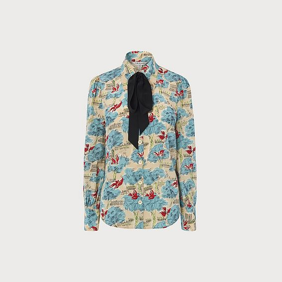 Sonya Tuileries Print Silk Shirt