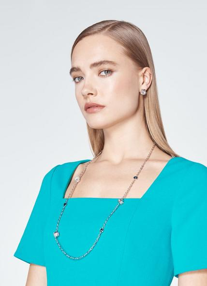 Havana Swarovski Crystal Knot Necklace