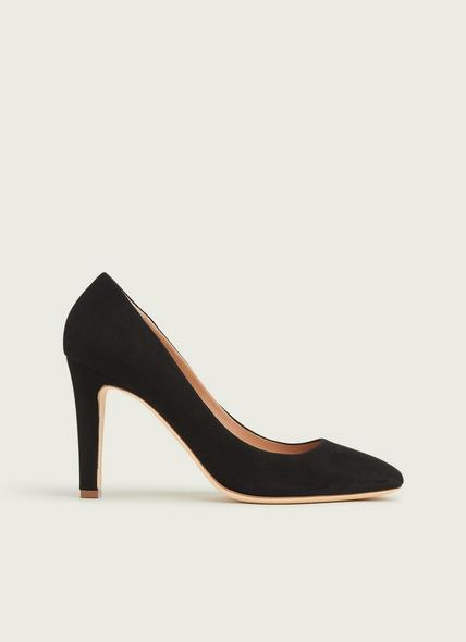 Fawn Black Suede Courts