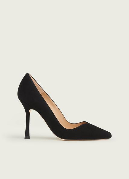Faye Black Suede Sweetheart Courts