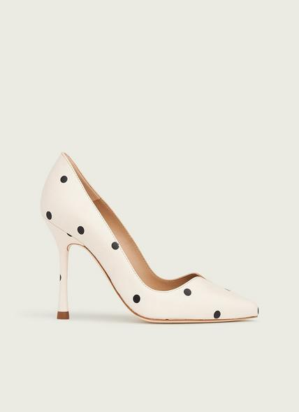 Faye Spot Print Leather Sweetheart Courts