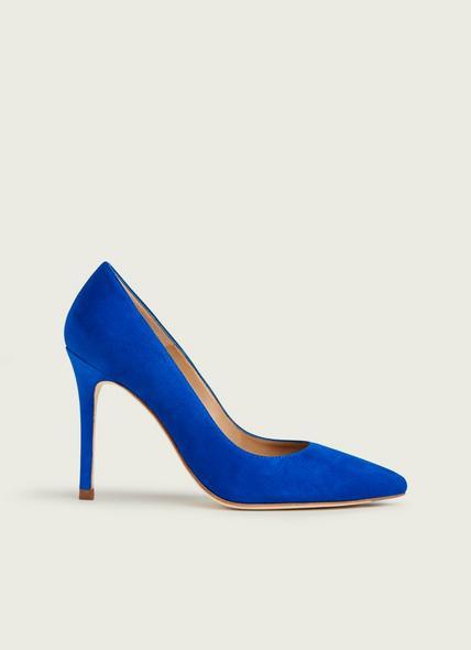 Fern Blue Suede Courts