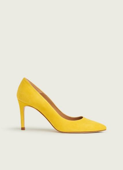 Floret Sherbet Yellow Suede Courts