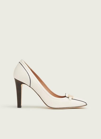 Franziska White Leather Courts