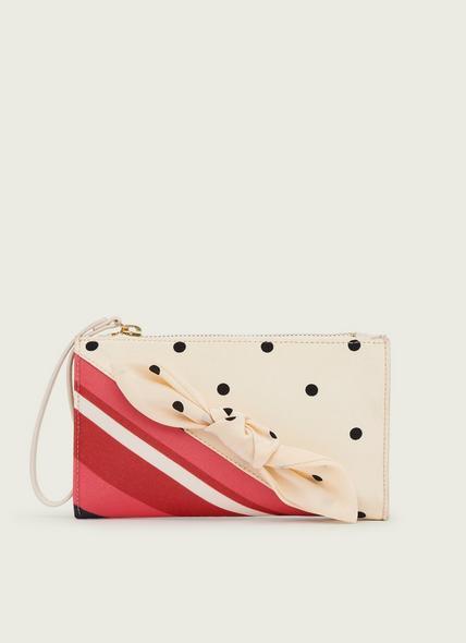 Delilah Stripe and Polka Dot Fabric Clutch