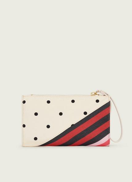 Delilah Stripe and Polka Dot Fabric Clutch
