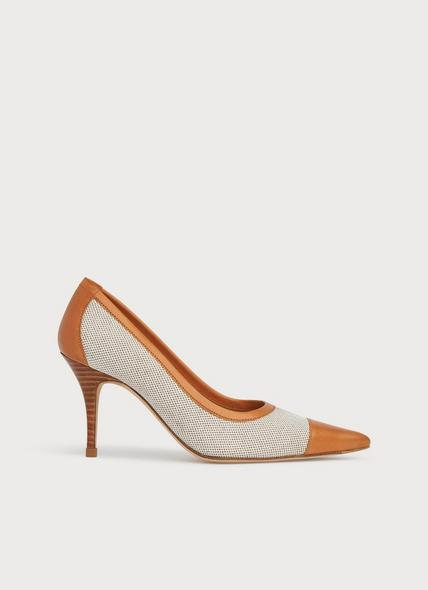 Felipa Canvas and Tan Leather Courts