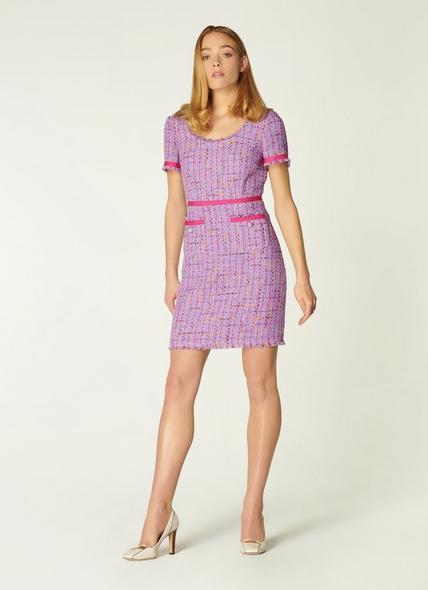 Albers Lilac Tweed Shift Dress