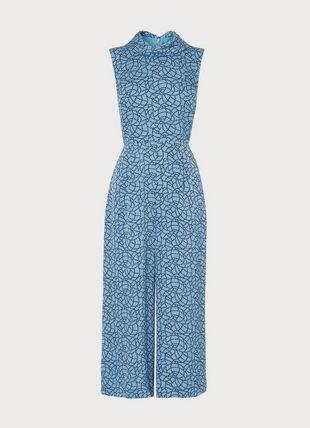 Bancroft Blue Rope Print Jumpsuit