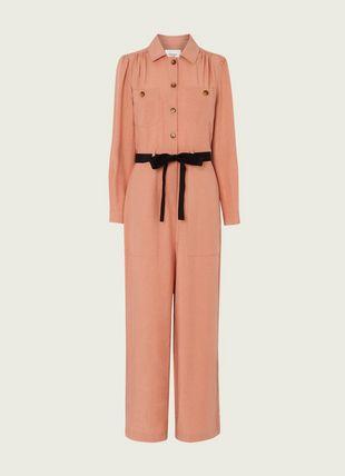 Cecil Pink Tencel-Linen Jumpsuit