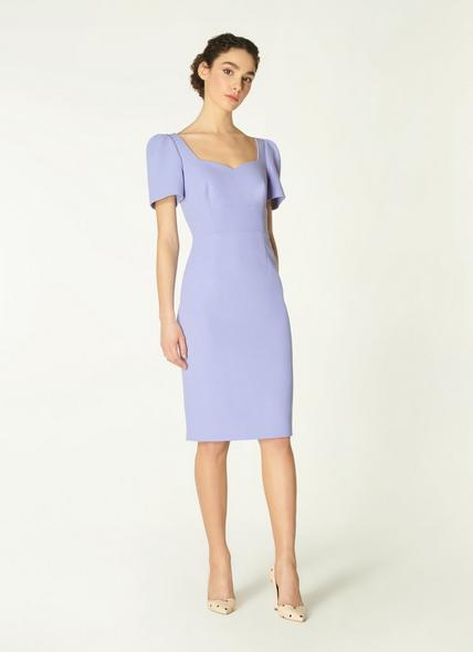 Dee Pale Blue Crepe Shift Dress