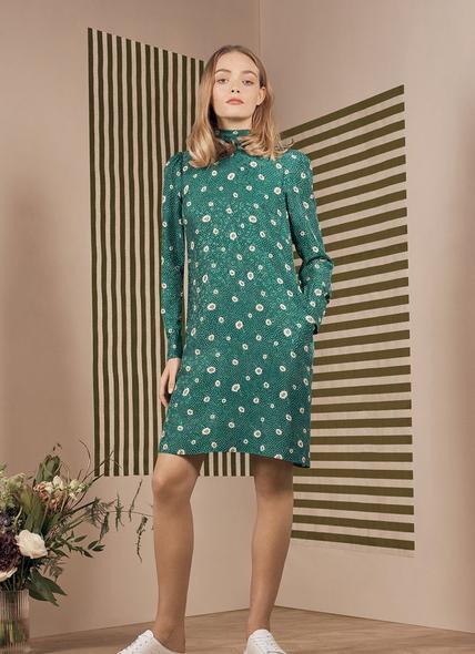 George Green Daisy Spot Print Mini Dress