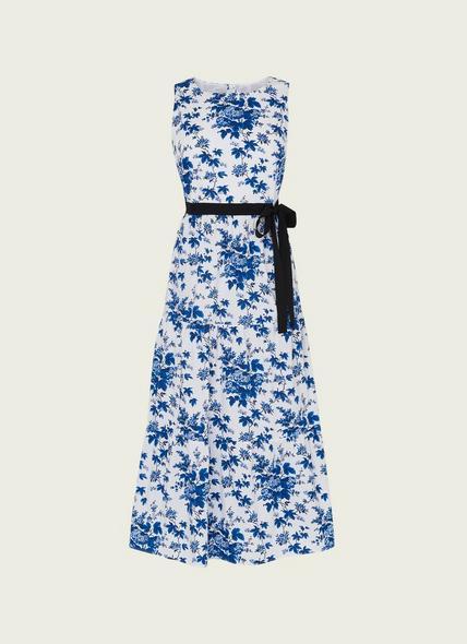 Hodgkin Toile de Jouy Print Cotton Dress