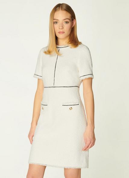 Mercer Cream Tweed Shift Dress