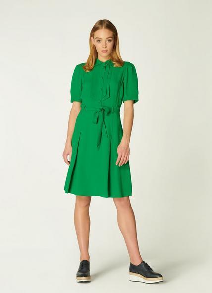 Shrimpton Green Crepe Tea Dress