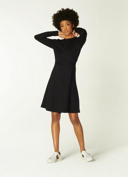 Stella Black Jersey Fit and Flare Dress