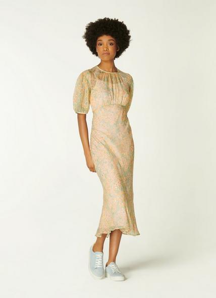 Susie Aquamarine Silk Dress