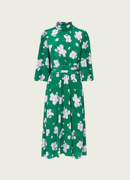 Tamara Green Sweet William Print Silk Dress