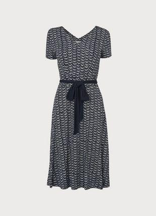 Zoe Crescent Print Jersey Dress
