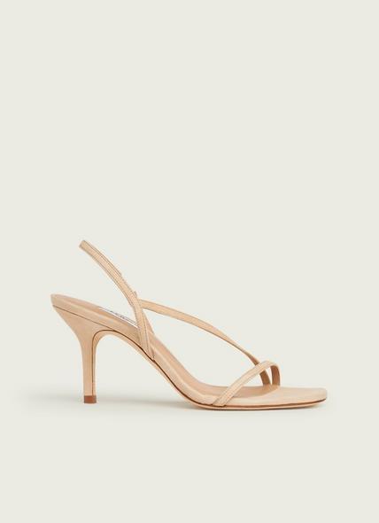 Neave Beige Suede Strappy Sandals