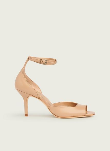 Noreen Beige Leather Sandals